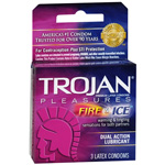 Trojan Fire & Ice Condoms 3 Pack
