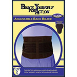 Bell-Horn Brace Yourself Adjustable Yourself Back Black Brace