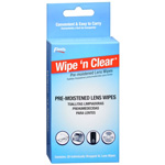 Flents Wipe 'N Clear Pre-moistened XL Lens Wipes, 20 ea