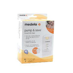 Medela Pump & Save Breastmilk Bags, 50 pack