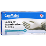 CareMates Disposable Medical Gloves - Powdered Latex, Large 100 ea, CARE #313