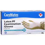 CareMates Disposable Medical Gloves - Powder Free Latex, X-Large 100 ea, CARE #314