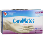 CareMates Vytrile-PF Disposable Medical Exam Gloves Latex Powder Free Small, 100ea, Care#411