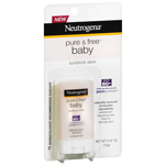 Neutrogena Pure and Free Baby Sunscreen Stick SPF 60+, .47 oz