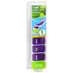 Detach N Go 7 Day Pill Box With Pill Cutter, 1 ea