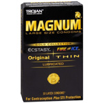 Trojan Condoms Magnum Gold Collection, Premium Latex Condoms, Large, 10 ea