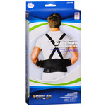 "Sportaid Back Brace with Suspenders Black, 32""-44"", med/lg"