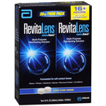 RevitaLens Multipurpose Disinfecting Solution w/Lens Case, 10 oz (Pack of 2)