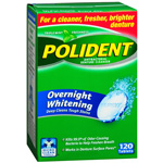 Polident Overnight Whitening Tabs 120 ct