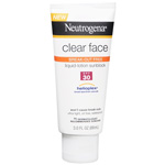 Neutrogena Clear Face Sunscreen Lotion, SPF 30, 3 oz