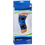 Sportaid Hinged Knee Brace with Open Patella, Neoprene, Blue, Small, Size: 13-14 inches