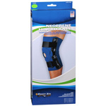 Sportaid Hinged Knee Brace with Open Patella Neoprene, Blue, Medium, Size: 14 - 15 Inches