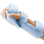Florida Orthopedics Healwell Grip Splint Wrist Hand Finger Orthosis WHFO Left/Right Light Blue