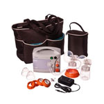 EnJoye-LBI™  Breast Pump with Deluxe Tote Set Black & Personal Accessory set  Mod: 10.0058