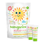 Babyganics Cover Up Baby Moisturizing Sunscreen Lotion, SPF 50, 0.25 oz (Pack of 12)