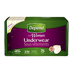 Depend Underwear for Women, Maximum Absorbency, S/M