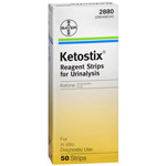 Ketostix Bayer Reagent Strips for Urinalysis, Ketone Test, 50 ea