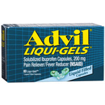 Advil Advanced Medicine for Pain, Easy Open Cap, 200mg, Liqui-Gels, 80 ea