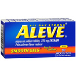 Aleve All Day Strong Pain Reliever, Fever Reducer, Gelcaps, 80 ea