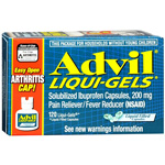 Advil Advanced Medicine for Pain, Easy Open Cap, 200mg, Liqui-Gels, 120 ea