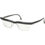 Adlens Adjustables Eyewear, Black Frame with Clear Lens
