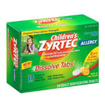 Zyrtec Children 10mg Dissolve Tabs, Citrus, 24 ea