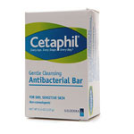 Cetaphil Gentle Cleansing Bar Antibacterial, 4.5 oz