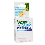Beano Plus Dairy Defense Food Enzyme, Raspberry Sorbet, 12 ea