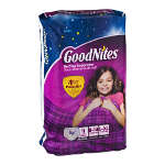 Goodnites Bedtime Underwear for Girls, L/XL