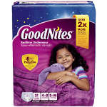 Goodnites® Youth Pants for Girls Small/Medium Big Pack, 31 ea