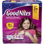 Goodnites® Youth Pants for Girls Large/XL Big Pack, 24 ea