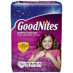 Goodnites Youth Pants for Girls Large/X-Large, Mega Pack 20 ea