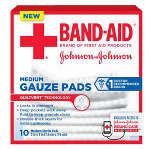 Band-aid First Aid Gauze Pads 3x3, 10 ea