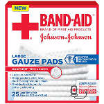 Band-aid First Aid Gauze Pads 4x4, 25 ea