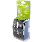 Psi Bands Acupressure Wrist Bands - Racer Black