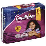 Goodnites® Girls Nighttime Pants, Small/Medium, 38 to 65 lbs, 33 ea
