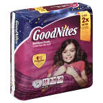 Goodnites® Girls Nighttime Pants Large/XL, 60 to 125 lbs, 25 ea