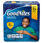 Goodnites® Boys Nighttime Pants, Large/XL, 60 to 125 lbs, 25 ea