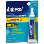 Anbesol Cold Sore Therapy Ointment with Vitamin E & Aloe, .25 oz