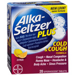 Alka-Seltzer Plus Cold & Cough Medicine, Citrus Blend, Effervescent Tablets, 20 ea