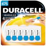 Duracell Easy Tab Hearing Aid Batteries #675, 6 pk