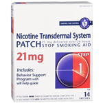 Habitrol Nicotine Transdermal System Step 1, 21mg Stop Smoking Aid, 14 ea