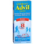 Children's Advil Fever, Ibuprofen Suspension Liquid, Blue Raspberry, 4 fl oz