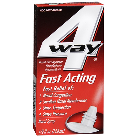 4-Way Fast Acting Nasal Spray, .5 oz