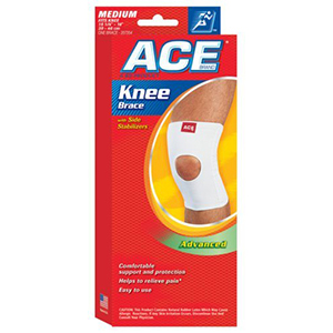 Ace Knitted Knee Brace With Side Stabilizers Medium