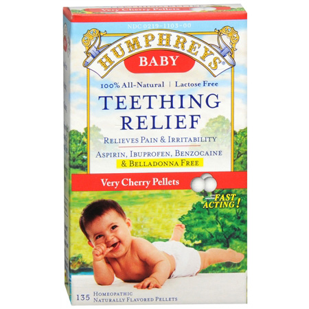 Humphreys Teething Relief Pellets Very Cherry 135 Ea