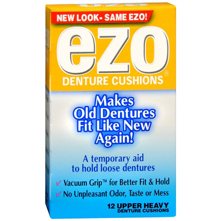 Ezo denture cushions, upper heavy - 12 Ea