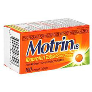 Motrin IB, Ibuprofen 200 mg - 100 Coated Tablets