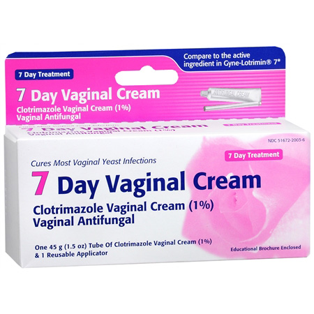 Clotrimazole vaginal cream usp 1 7 day vaginal cream for Exterior yeast infection