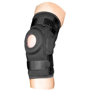 Bell-Horn ProStyle Hinged Patella Knee Wrap, Black, L/XL